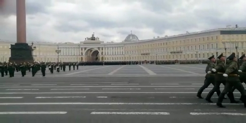 a rehearsal for next week's Victory Day parade