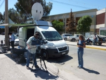 BG TV covering the rescue of miners in Chile.