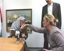 Cristina Liberis, a special correspondent with Romanian national television, TVR, made the last TV interview with Yasser Arafat in July 2004.
