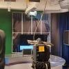 Moscow broadcast studio with lighting grid and cyclorama. TVDATA.TV  INFO@TVDATA.TV