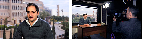 AP offers a live camera broadcast studio in Beirut, Lebanon.