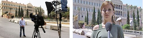 Live camera stand-up position in Beirut, Lebanon.