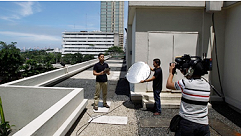 AP live camera stand-up position in Manila, Philippines.