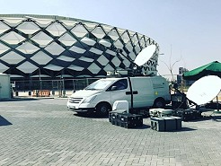 DSNG satellite uplink trucks in Dubai, Abu Dhabi and the UAE for live broadcast production.