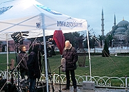 Live stand-up transmission using SNG uplink van in Istanbul
