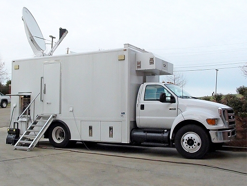 BG Television supplies SNG satellite uplink trucks in Miami for live broadcast transmissions.