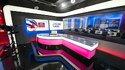 Live television broadcast studio in central London for hire from Celebro Live.