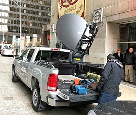 LiveU offers a combined IP satellite and cellular video transmission solution.