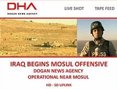 DHA sends SNG satellite truck to Mosul area.