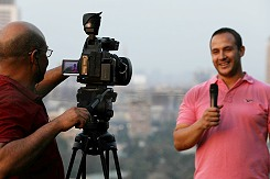 Live shot overlooking Cairo, Egypt.