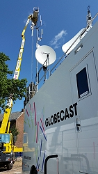 Live SNG broadcast by Globecast of the Tour de France 2015