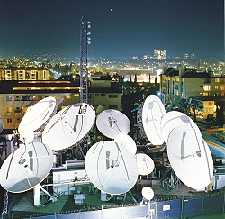 Globecast's teleport in Los Angeles