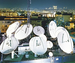 Globecast Teleport in Los Angeles.