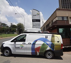 SABC hybrid ENG truck for news gathering.