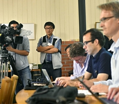 Video production by ITM at the Foreign Correspondents Club in Tokyo