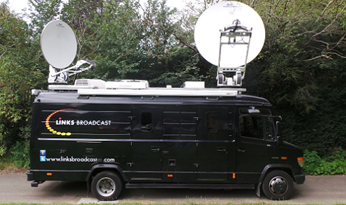 Links Broadcast offers SNG satellite trucks for hire in London and the UK.