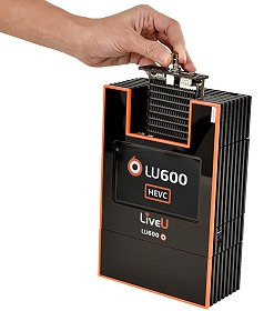 LiveU's LU600 with HEVC Pro Card.