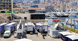 UHD OB production by EUROMEDIA at the Monaco Grand Prix.