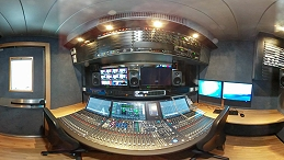 Interior shot of NEP Switzerland's 4K OB unit.