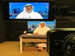 New TR offers live broadcast studios for hire in Doha, Qatar.