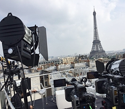 New TR live position with Eiffel Tower in background.