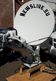 For sale: SNG satellite antenna 1.2m from Newslive in Holland.