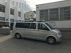 Newsplash provides KA-band IP SNG satellite truck in London, UK and northern France.