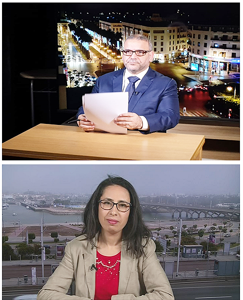 Morocco: live TV broadcast studio production and transmission in Rabat.