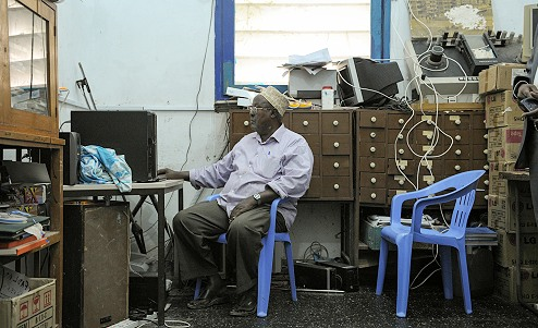 Interior shot of the Radio Mogadishu offices.