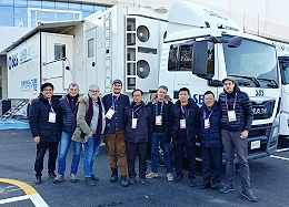 SBS in Seoul takes delivery of new OB van.