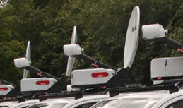 SIS LIVE provides 26 'ad hoc' SNG satellite uplink trucks for the UK election.