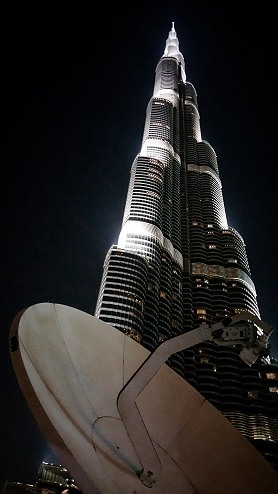 SNG Broadcast Services: satellite uplinking from the Burj Khalifa.