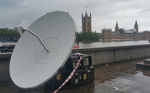 SNG Broadcast Services: satellite uplinking from London.