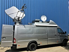 SNG satellite truck in Turkey.