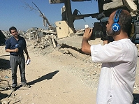 Live broadcast transmission and production from Gaza.