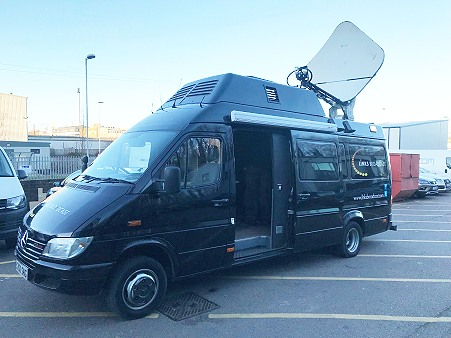 For sale: SNG satellite uplink van from Links Broadcast in UK.