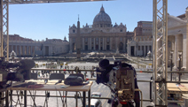 EBU stand-up position overlooking the Vatican.