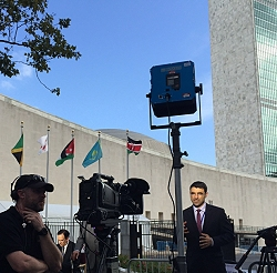 TIMA's live transmission position at the UN in New York.