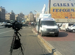TV-SAT supplies a SNG satellite truck and camera crews in Chișinău and Moldova.
