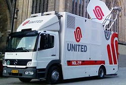 United supply OBvans and SNG satellite trucks in Holland.