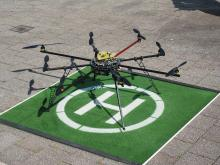 Drone newsgathering in South Africa by Purple Turtle.