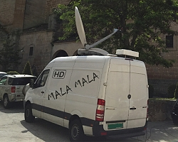 Mala Mala Productions new SNG uplink vehicle based in Madrid, Spain